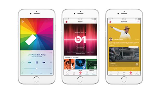 iPhone6 vergelijkt: Spotify, Apple Music & Tidal