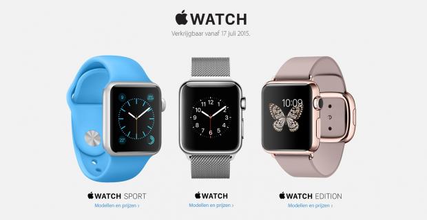 Apple Watch vanaf 17 juli in Nederland verkrijgbaar